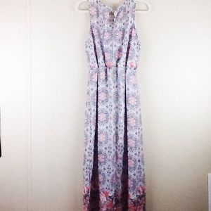 Cloth & People Dress Maxi Size Large Lined Floral